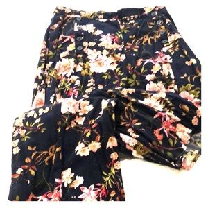 Modern flowing floral pants perfect for summer